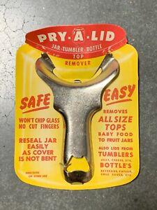 Pry A Lid Jar Tumbler Bottle Canning/Prepper Top Remover NEW OLD STOCK  VINTAGE!