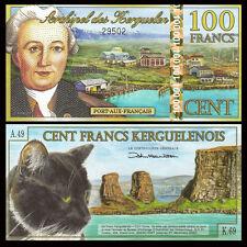Kerguelen Island 100 Francs, 2012, Polymer, UNC