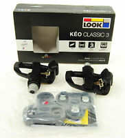 2017 Look Keo Classic 3 Road Pedals & Cleat Set Black