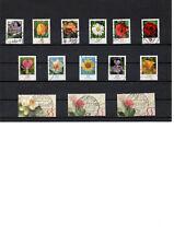 ALLEMAGNE lot de 18 timbres fleurs et saisons