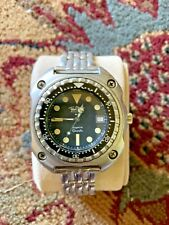 Vintage Ultra Rare Paul Maret Sea Pearl 100 ATM Dive Watch Orig. Band