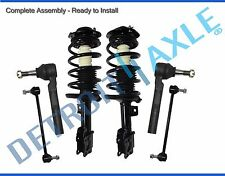 2004-2012 Chevy Malibu Pontiac G6 Front Strut w/springs Sway Bar Outer Tie Rods