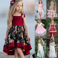 Flower Girl Kids Toddler Baby Princess Party Pageant Wedding Tulle Tutu Dress