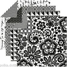 50 Black White Double Sided Origami Paper Spots & Stripes Craft Making 15x15cm