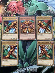 YUGIOH: COMPLETE EXODIA SET ALL 5 PIECES! The Forbidden One Common LDK2-EN104