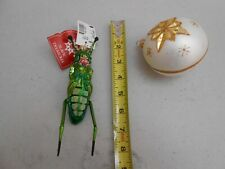 "Lot New Tags Hop A Long 5.5"" Slavic Treasures 501A Hand Blown Glass 2 Ornament"