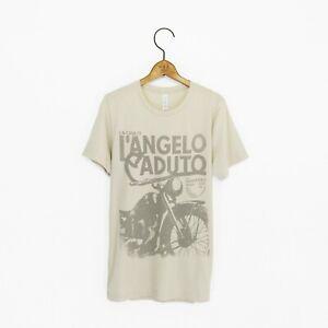 Mens 'L'Angelo Caduto' House Of Fallen Angels Vintage-Style Biker T-Shirt
