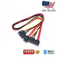 """15+7 Pin SATA HDD Extension Cable Data & Power Male to Female - 19"""" / 50CM USA"""