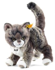 Steiff 'Kitty' Kitten Cat - cuddly washable plush soft toy tabby - 099335