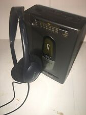 Sharp AM/FM Radio Stereo Cassette Player Personal Walkman~Tested/WORKS!