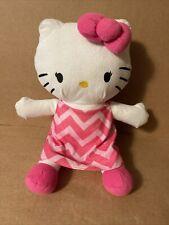 Hello Kitty Stuffed Animal By Northwest/Sanrio 2015 Stuffed Plush Pink Dress R04