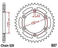KR Kettenrad 50Z Teilung 520 KTM EGS 620 LC4 / EXC 350 LC4 NEU ... Rear sprocket