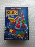 "Klax ""Very Good Condition"" Sega Megadrive Japan"