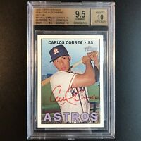 Carlos Correa 2016 Topps Heritage Auto RC Real One RED INK #'d/67 BGS 9.5/10