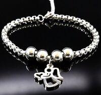 Frauen Armband Armkette Edelstahl Schutz-Engel Anhänger Damen Glücksbringer