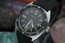 Vintage WALTHAM Bathyscaphe 17 Jewel Stainless Steel Tritium Dial Diver's Watch