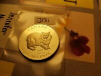Canada 1999 Wild Animals Series  Cymric Sterling Silver 50 Cent Mint Coin Id#j.