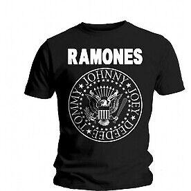 Ramones Seal Mens Black T Shirt: Large