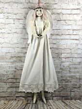 vtg Benedicte Reveilhac French shabby chic handmade angel cloth doll 30'' tall