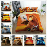3D Disney The Lion King Kids Bedding Set Duvet/Quilt/Doona Cover Pillowcase