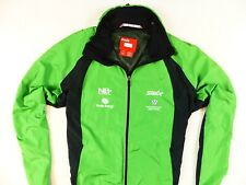 MEN'S GREEN SWIX NORWAY CROSS COUNTRY FULL ZIP SKIING JACKET SIZE: L (LARGE)