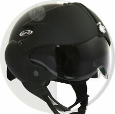 OPEN FACE MOTORCYCLE HELMET OSBE GPA AIRCRAFT TORNADO BLACK XXL 63cm+