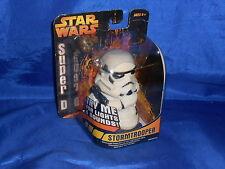 Star Wars Super Deformed Stormtrooper Action Fig Sound Light Sealed Hasbro 2005
