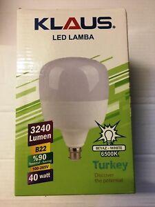 Klaus LED GLS B22 Big Bright Light Bulb 4320lm 40W Globe Bayonet Cap Spot Lamp