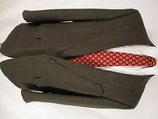 Burberry Mens Brown Houndstooth 2 Btn Tweed Blazer 44R