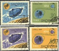 Albanien 1067-1070 (kompl.Ausg.) gestempelt 1966 Mondsonde Luna-10