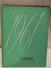 """Utopia"" 1961 Cayuga High School Yearbook, Cayuga, Indiana"