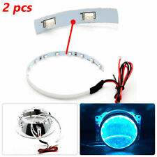 2pcs Car 15-SMD LED Demon Eye Halo Rings Kit For Headlight Projector Lens 12V