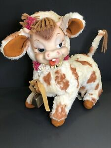 Rushton Daisy Belle Rubber Face Cow Plush Star Creations Kitschy Vintage 1950's