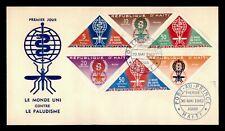 DR WHO 1962 HAITI FDC ANTI MALARIA CACHET TRIANGLE COMBO  g09344