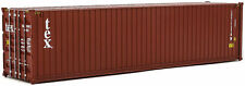 Walthers HO Scale 40' Hi-Cube Shipping Intermodal Container TEX (brown, white)