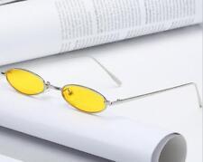 Vintage Ovalado Pequeño Metal Gafas de Sol Marco Mujer Retro Trendy