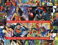 Madagascar 2018 MNH Superheroes Superman Spiderman 4v Impf M/S Comics Stamps