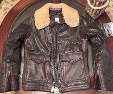 Ralph Lauren Black Label Mens Aviator Flight Jacket Sz Small Brown New W Tags