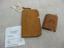 Vtg Elk Hide Leather Banff Lake Louise Canada Souvenir Sunglass Case/Key Holder