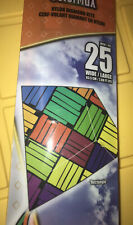 """X-Kites 25"""" ColorMax """"Rectangle Nylon Ready To Fly Kite! Handle Line & QuickClip"""