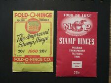 Stamp Hinges in two different packs AS IS