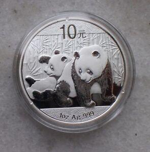 China 2010 1oz Silver Regular Panda Coin