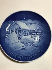 "Bing & Grondahl 1975 Christmas Plate ""Christmas at the Old Water-Mill"""