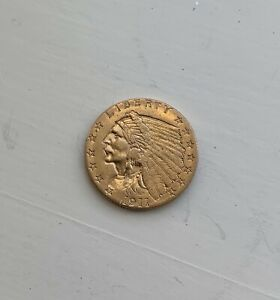 1911 UNITED STATES $2.50 INDIAN GOLD COIN