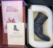 Just the Right Shoe Raine Black Military Boot 25501 w/box & certificate