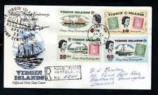 Virgin Islands - 1966 Postage Stamp Centenary Registered First Day Cover