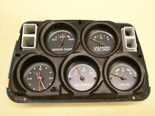 Corvette 1977 only Center Gauge Cluster w/ Clock, White Face Very Nice Condition