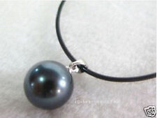 HUGE 16 MM SEA BLACK SHELL PEARL NECKLACE PENDANT