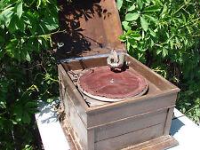 OLD Gramophone,   Columbia ,Grafonola , Gramophone Vintage in case-FOR REPAIRS ?