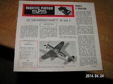 MPM Maquette plastique magazine n°4 Bf-109F Mureaux ANF 117